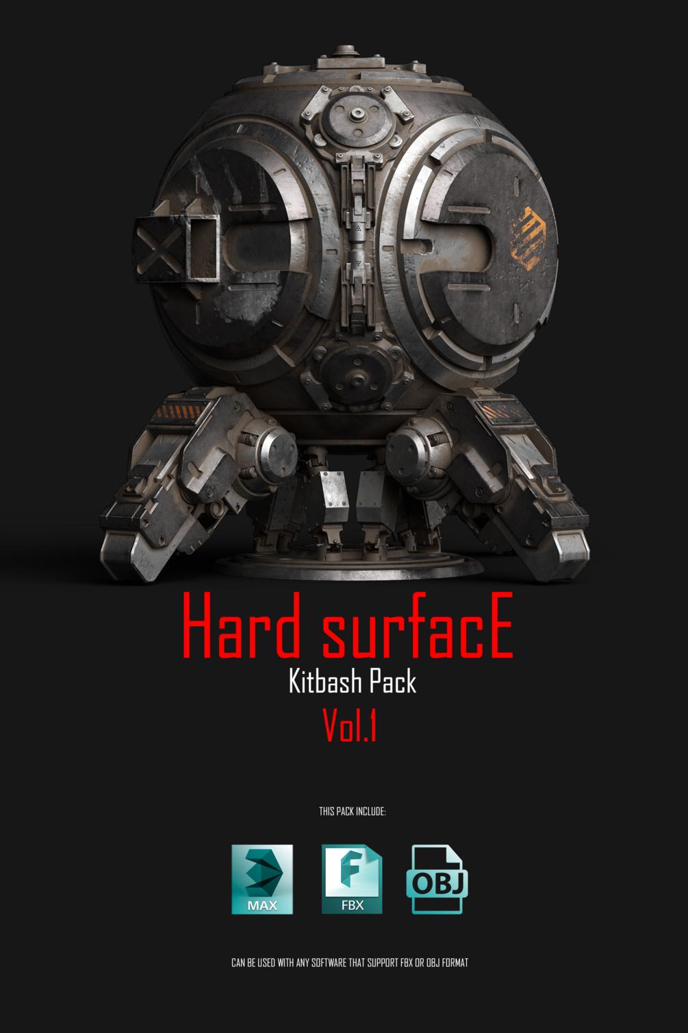 Hard_Surface_Kitbash_Pack 硬表面模型包